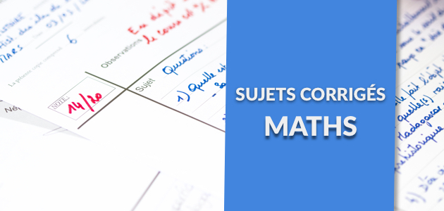 Correction du Sujet de Maths - Brevet 2017