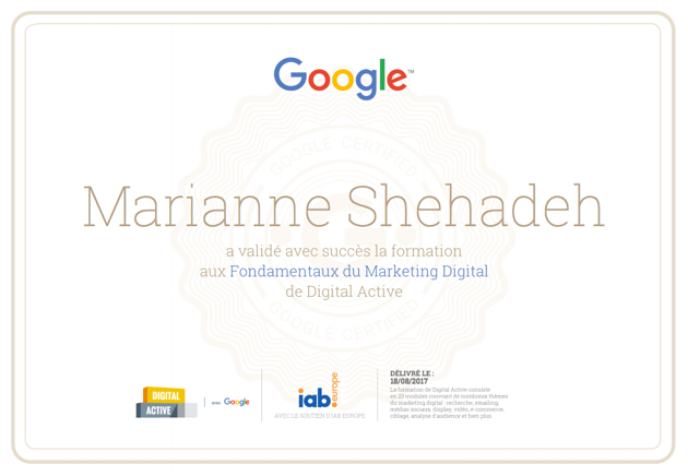 test de la formation en marketing  u0026quot digital active u0026quot  de google