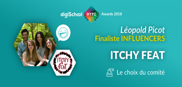 Itchy Feat atteint la finale des digiSchool HYPE Awards 2018