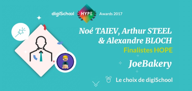 JoeBakery, finaliste des digiSchool HYPE Awards 2017