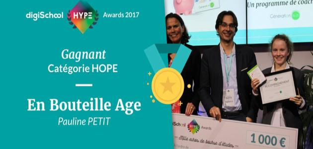 digiSchool HYPE Awards 2017 : qu'est devenu Pauline (Embouteill'âge) ?