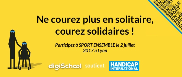 Participez à la course solidaire Sport Ensemble d'Handicap International