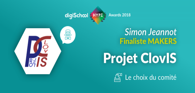 Projet ClovIS en finale des digiSchool HYPE Awards 2018 !