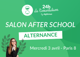 RDV au salon étudiant des 24h de l'Orientation AfterSchool Alternance by digiSchool