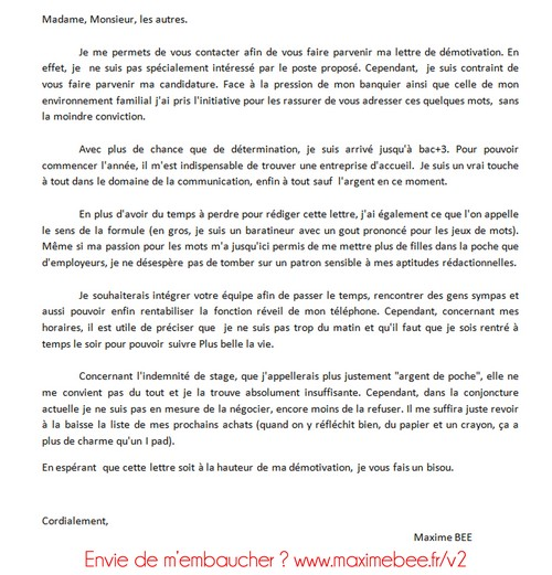 exemple lettre de motivation ecole de commerce